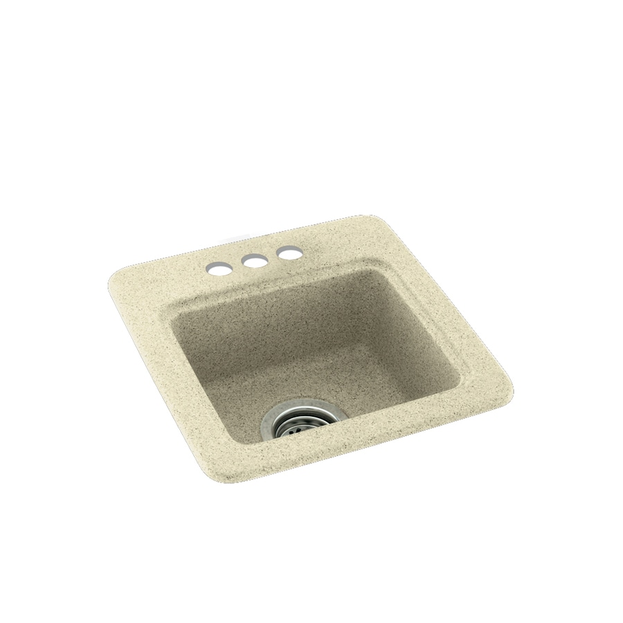 Swanstone Bone 3-Hole Composite Drop-in Residential Bar Sink