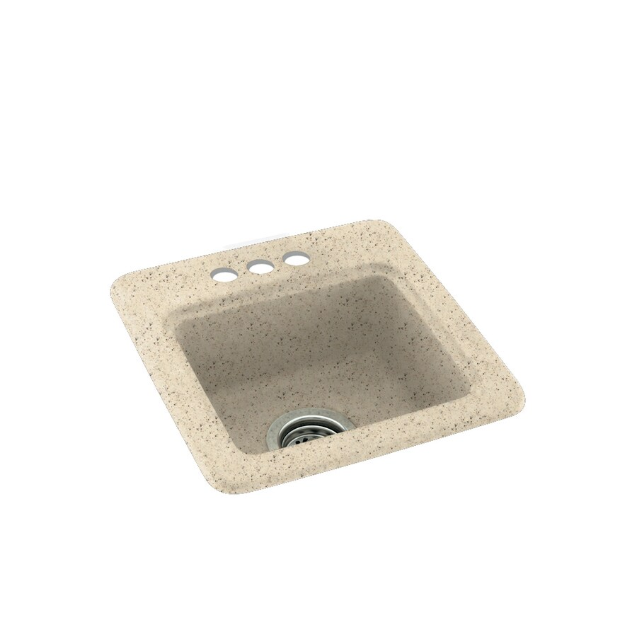 Swanstone Tahiti Desert 3-Hole Composite Drop-in Residential Bar Sink