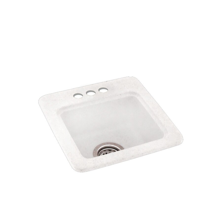 Swanstone Tahiti Ivory 3-Hole Composite Drop-in Residential Bar Sink