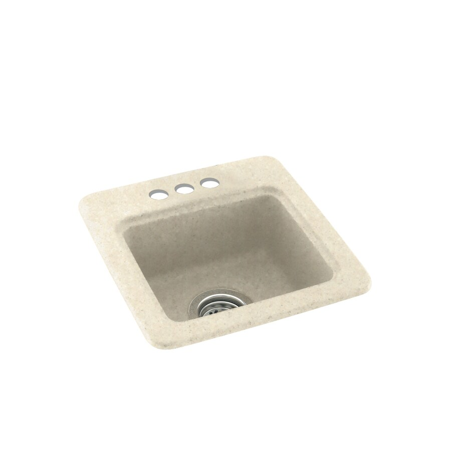 Swanstone Pebble 3-Hole Composite Drop-in Residential Bar Sink