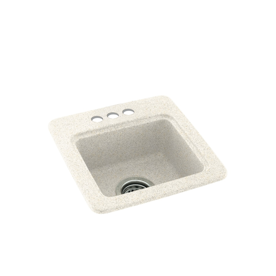 Swanstone Baby's Breath 3-Hole Composite Drop-in Residential Bar Sink