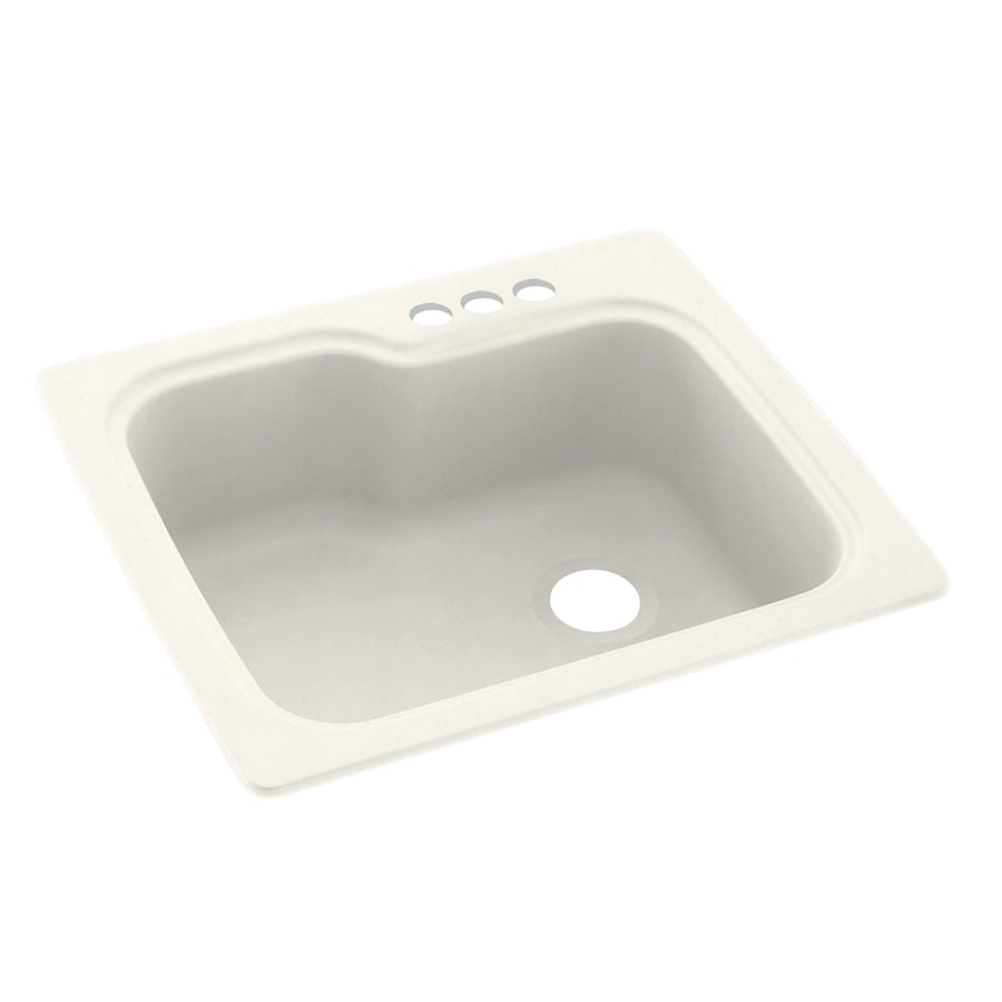 Swanstone 25-in x 22-in Baby's Breath Single-Basin Composite Drop-In 3-Hole Residential Kitchen Sink
