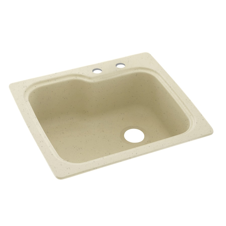 Swanstone 25-in x 22-in Caraway Seed Single-Basin-Basin Composite Drop-in 2-Hole Residential Kitchen Sink