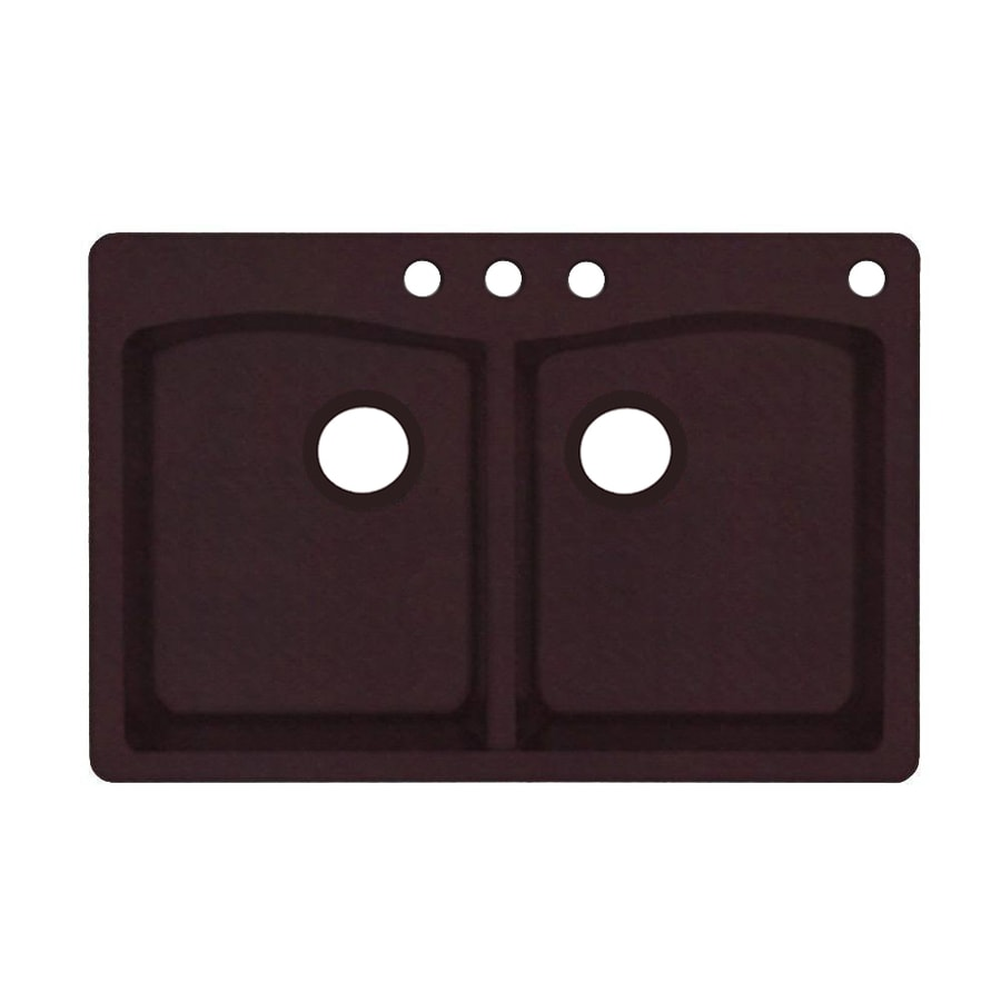 Shop swanstone x espresso double for Swanstone undermount sinks