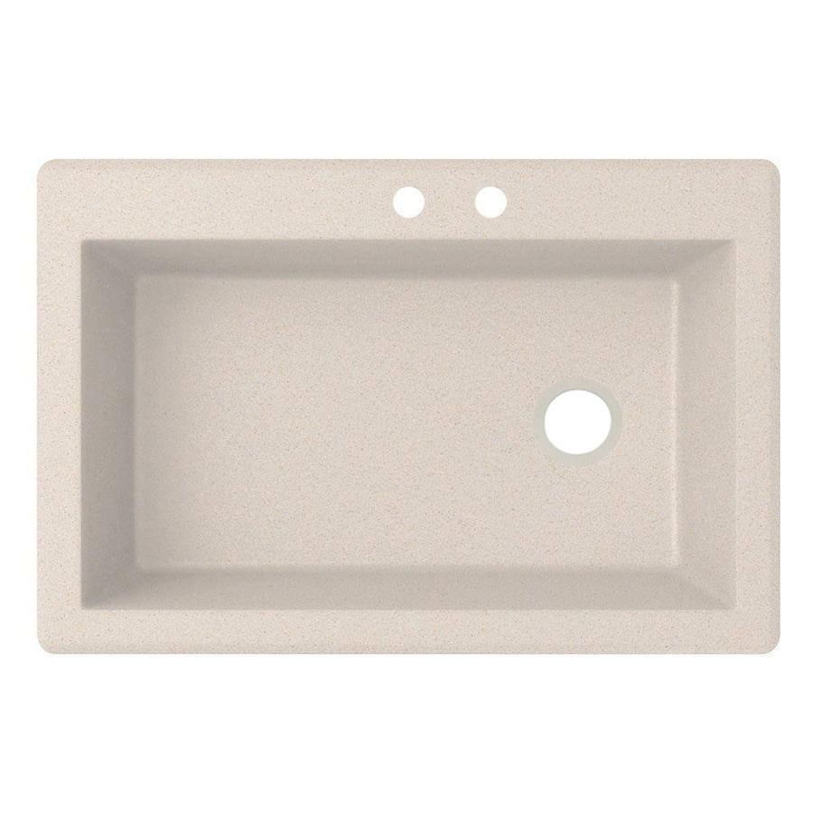 Swanstone 22-in x 33-in Granito Single-Basin Granite Drop-in or Undermount 2-Hole Residential Kitchen Sink