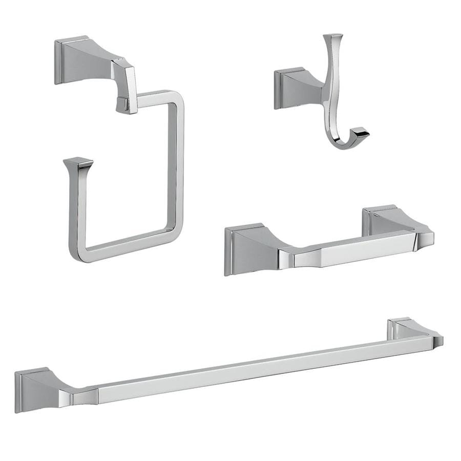 Delta 4 Piece Dryden Chrome Decorative Bathroom Hardware