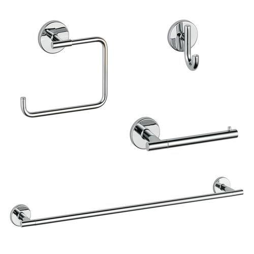 DELTA 4-Piece Trinsic Chrome Decorative Bathroom Hardware