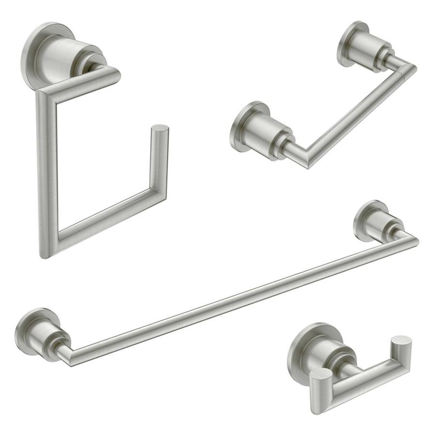 Moen 4 Piece Arris Brushed Nickel Decorative Bathroom Hardware Set
