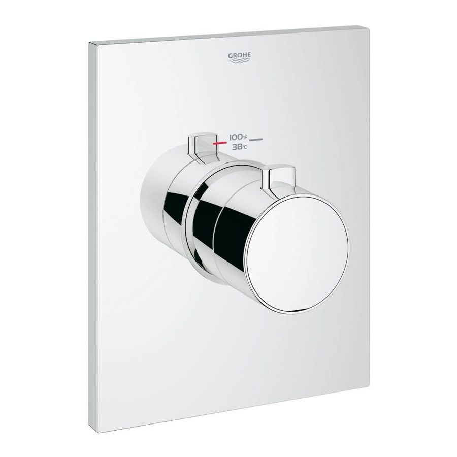 GROHE SOS Grohe 27620000 Thermostatic Trim With Temperature Control Module, Chrome
