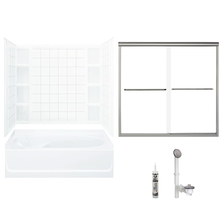 Shop Sterling Sterling Ensemble 60-in x 42-in Bath and Shower Kit ...