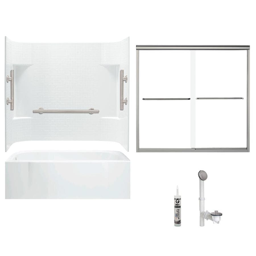 Shop Sterling Sterling Accord 60-in x 30-in Bath and Shower Kit ...