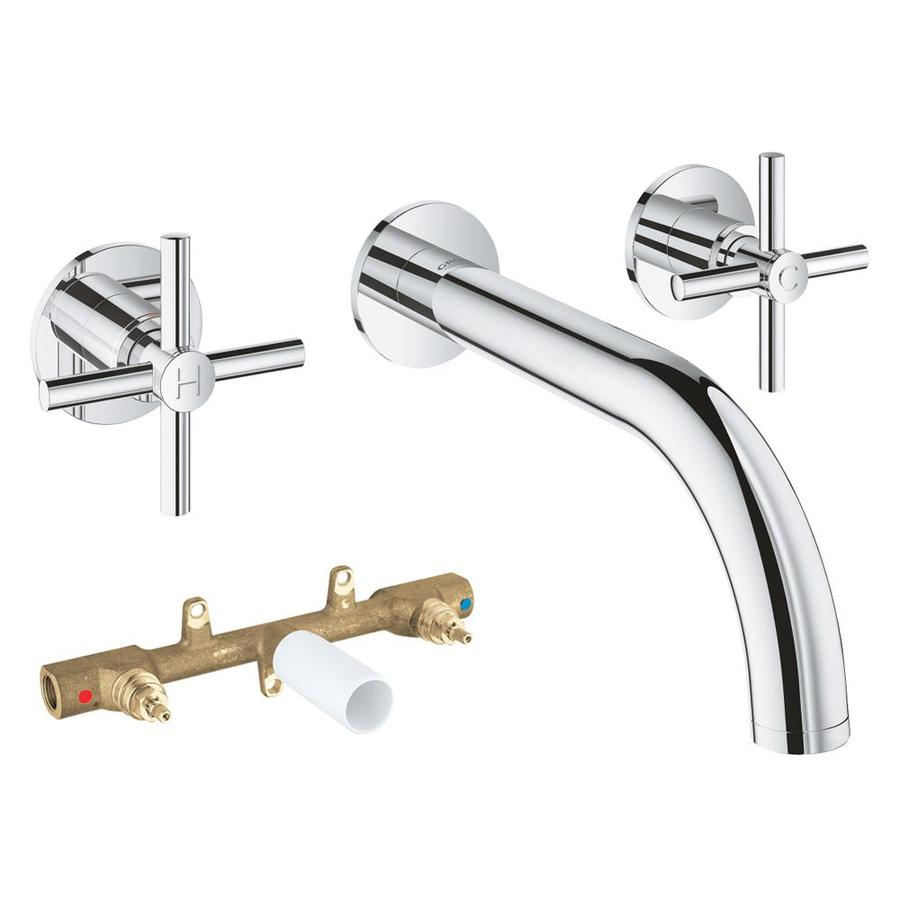 Grohe Atrio Chrome 2 Handle Residential Wall Mount Bathtub Faucet In The Bathtub Faucets Department At Lowes Com