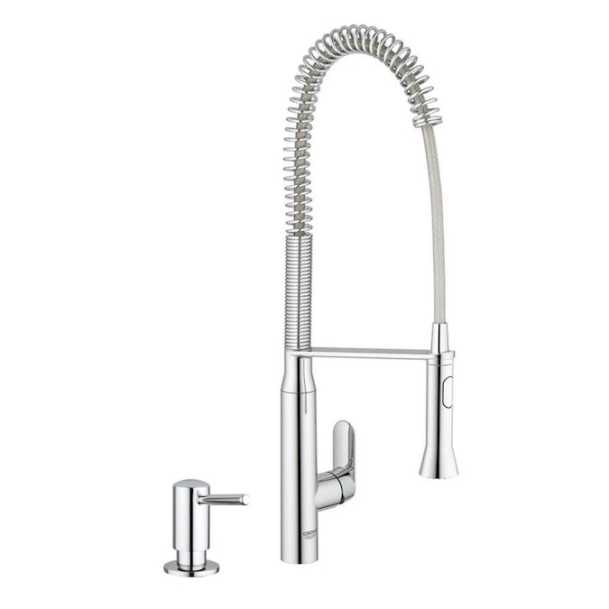Grohe K7 Chrome 1 Handle Deck Mount Pull Down Handle Kitchen Faucet In The Kitchen Faucets Department At Lowes Com