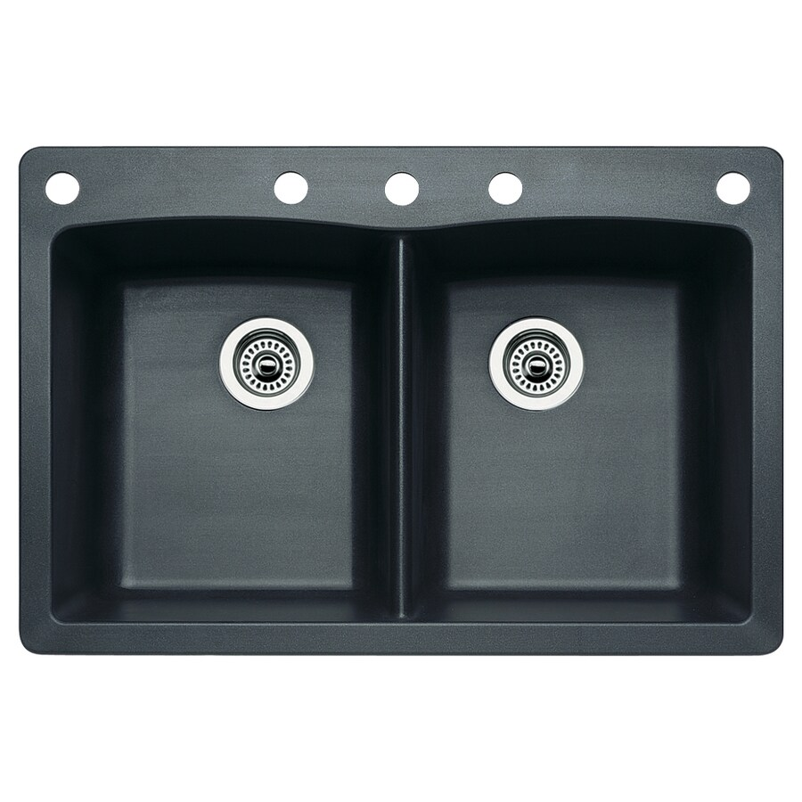 Diamond Kitchen Sink : ... -Basin Granite Drop-in or Undermount 5-Hole Residential Kitchen Sink