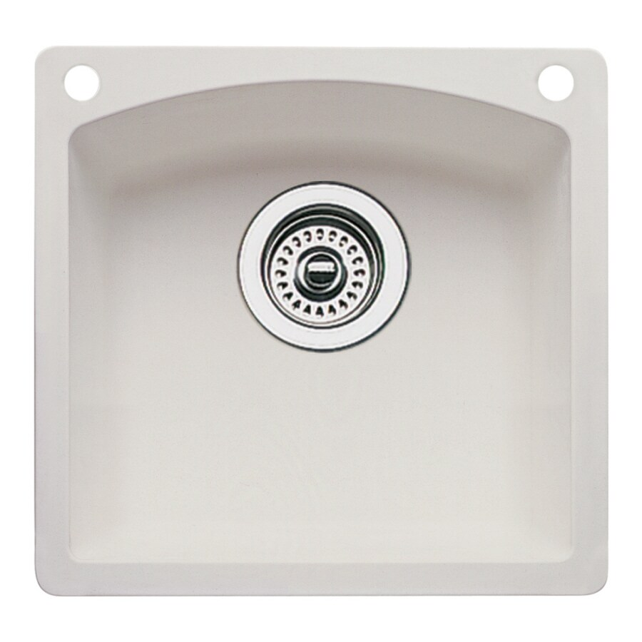 Blanco Drop In Sink : Shop BLANCO Diamond Biscuit 2-Hole Granite Drop-in or Undermount ...