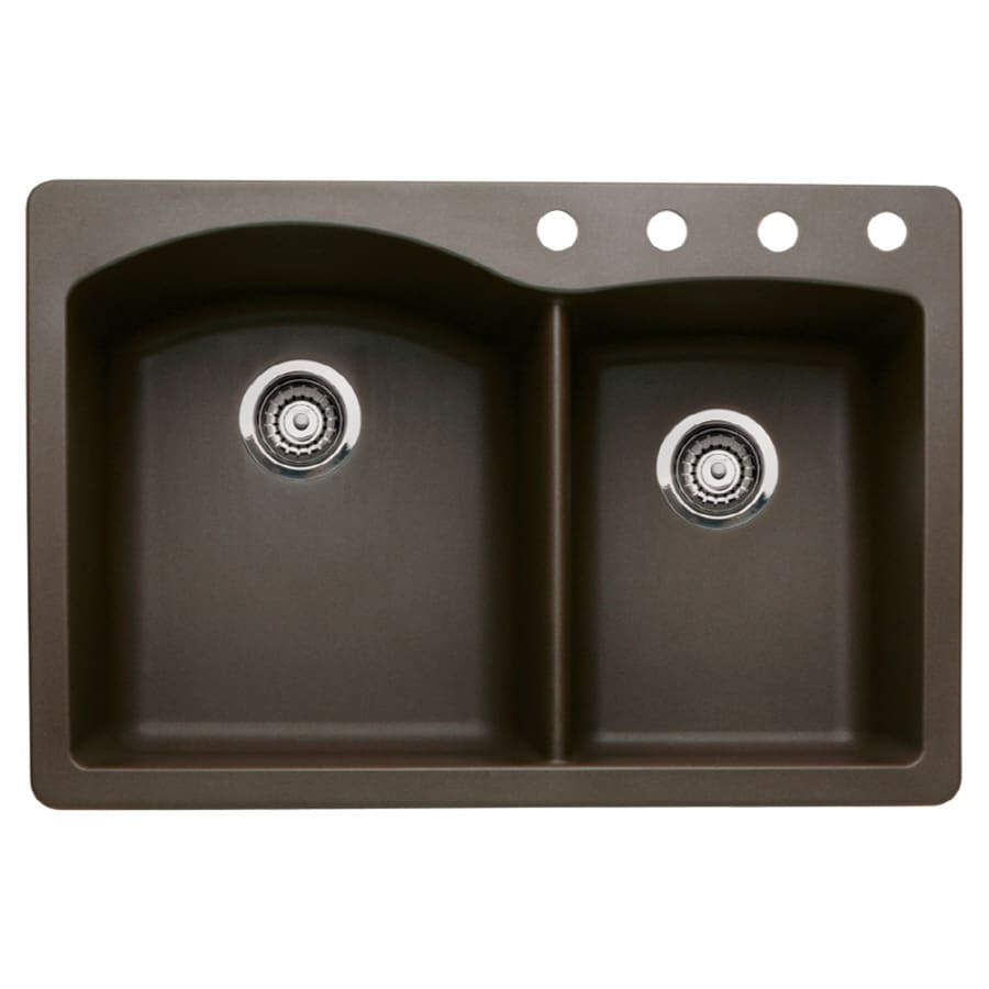 Diamond Kitchen Sink : ... -Basin Granite Drop-in or Undermount 4-Hole Residential Kitchen Sink