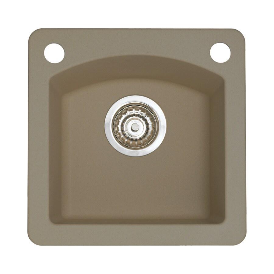 BLANCO Diamond Truffle 2-Hole Granite Drop-in or Undermount Residential Bar Sink