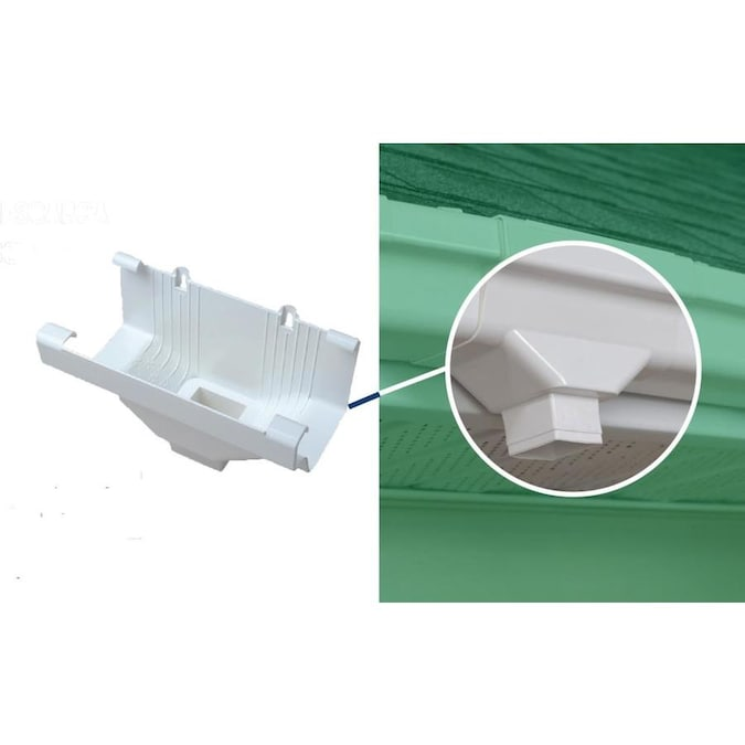 Amerimax Traditional 5 In X 9 In White K Style Gutter End