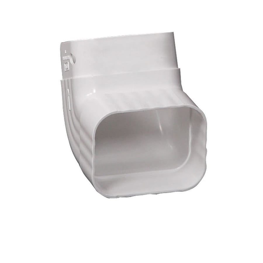 Amerimax Traditional 5.5-in White Vinyl Front Elbow