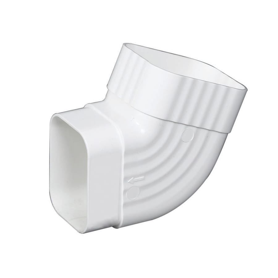 Amerimax Traditional 5.5-in White Vinyl Side Elbow