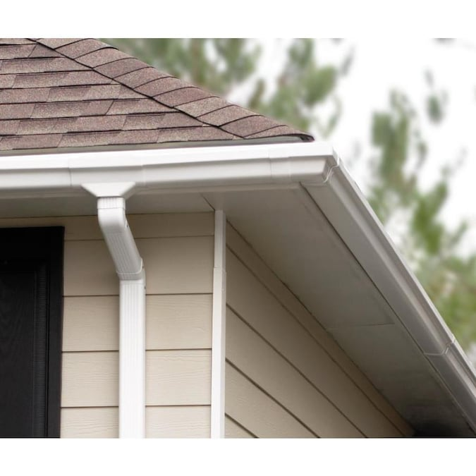 Amerimax Traditional 4 5 In X 120 In White K Style Gutter In The Gutters Department At Lowes Com