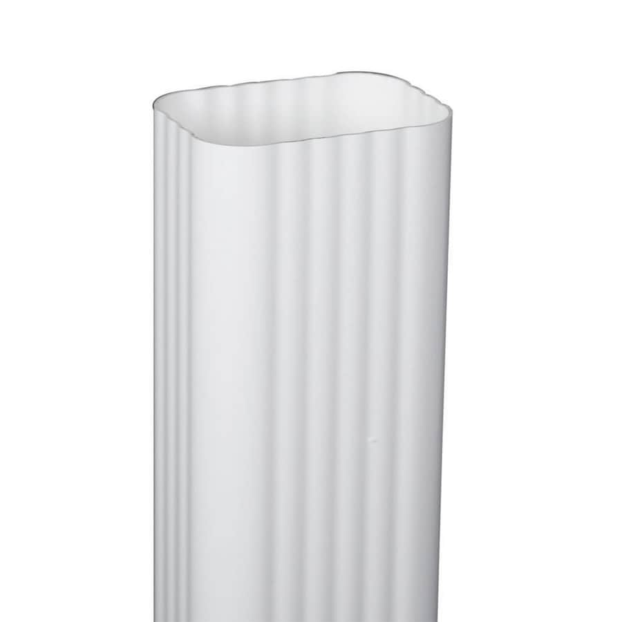 Amerimax Traditional 15.188-in White Vinyl Downspout Extension