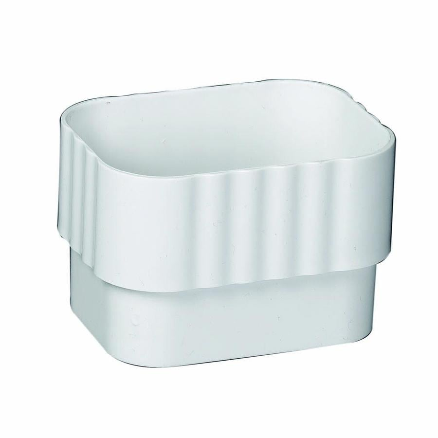 Shop Amerimax Traditional 2 375 In White Vinyl Downspout Extension