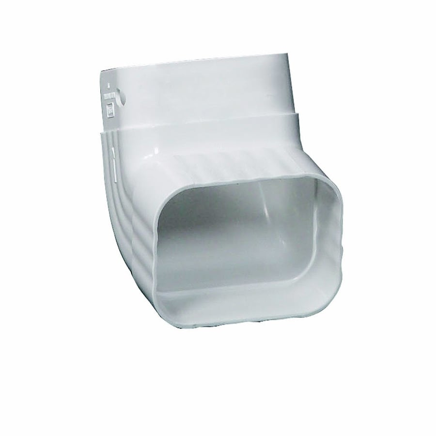 Amerimax Traditional 4.25-in White Vinyl Front Elbow