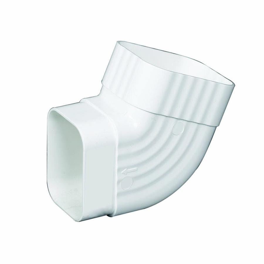 Amerimax Traditional 4.5-in White Vinyl Side Elbow