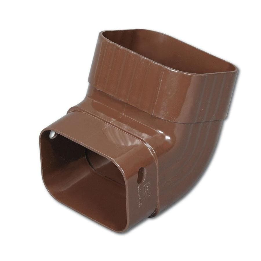 Amerimax Traditional 4.25-in Brown Vinyl Front Elbow