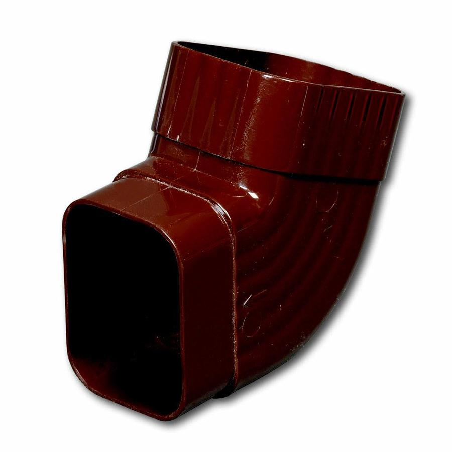 Amerimax Traditional 4.5-in Brown Vinyl Side Elbow
