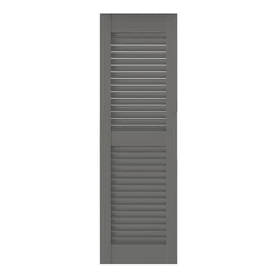 Southern Shutter 2 Pack 16 In W X 72 In H Primed Cedar Louvered Wood Exterior Shutters In The Exterior Shutters Department At Lowes Com