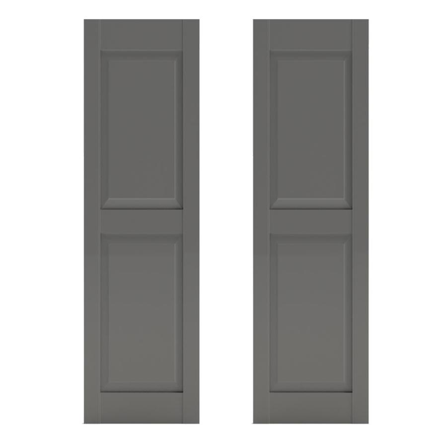 Southern Shutter Company 2 Pack Primed Cedar Raised Panel Wood Exterior Shutters Common