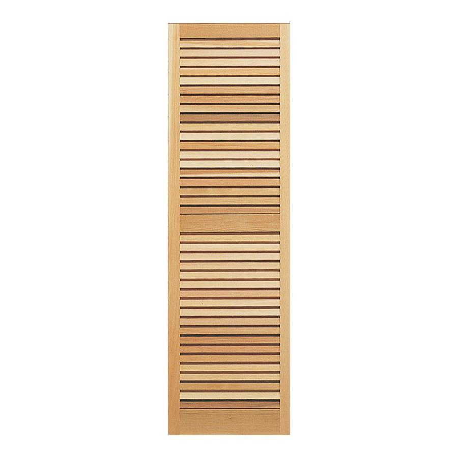 Southern Shutter Company 2-Pack Raw Cedar Louvered Wood Exterior Shutters (Common: 15-in x 55-in; Actual: 15-in x 55-in)