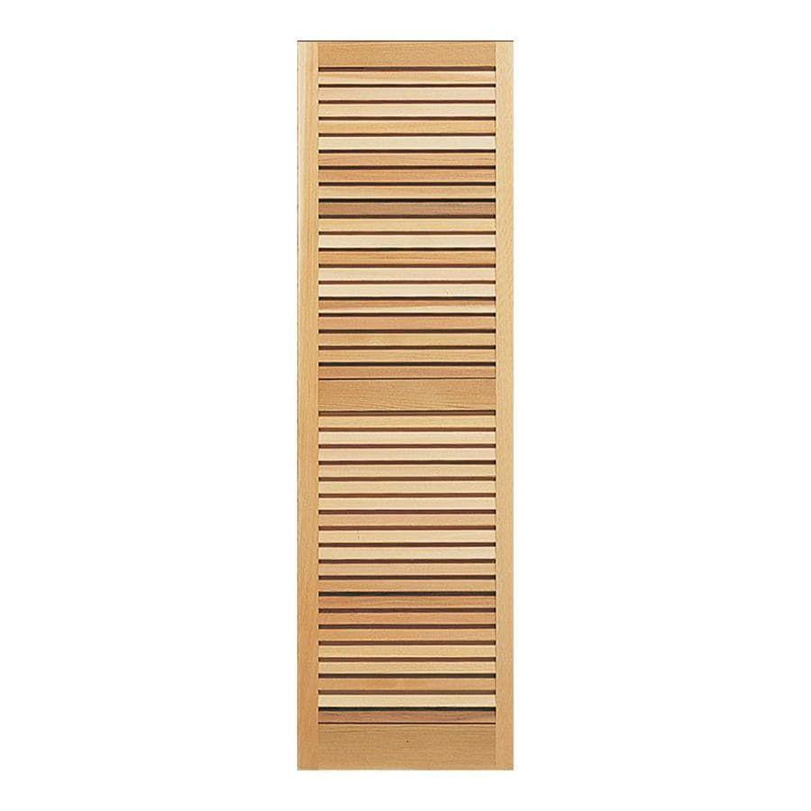 Southern Shutter Company 2-Pack Raw Cedar Louvered Wood Exterior Shutters (Common: 15-in x 63-in; Actual: 15-in x 63-in)
