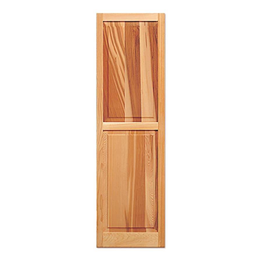 Southern Shutter Company 2-Pack Raw Cedar Raised Panel Wood Exterior Shutters (Common: 15-in x 51-in; Actual: 15-in x 51-in)