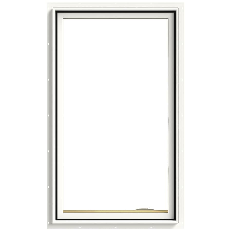 Shop jeld wen tradition 1 lite aluminum clad double pane for Double casement windows