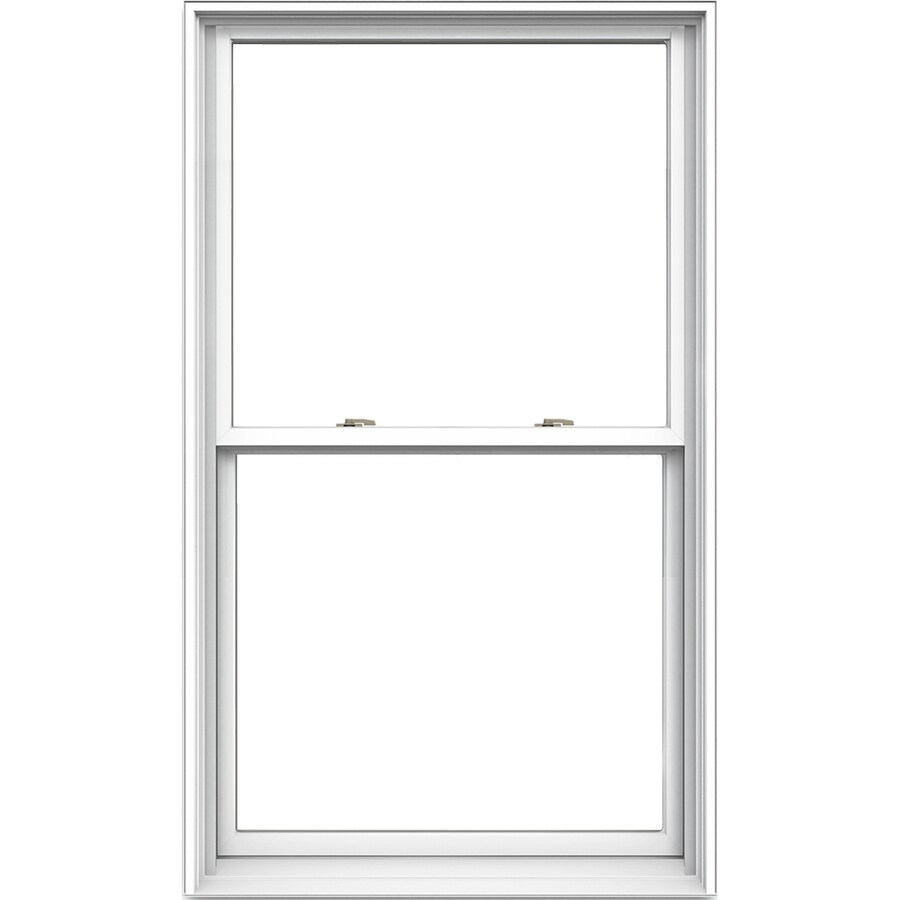 JELD-WEN Tradition Aluminum-Clad Double Pane Annealed Double Hung Window (Rough Opening: 34.125-in x 56.75-in; Actual: 33.375-in x 56-in)