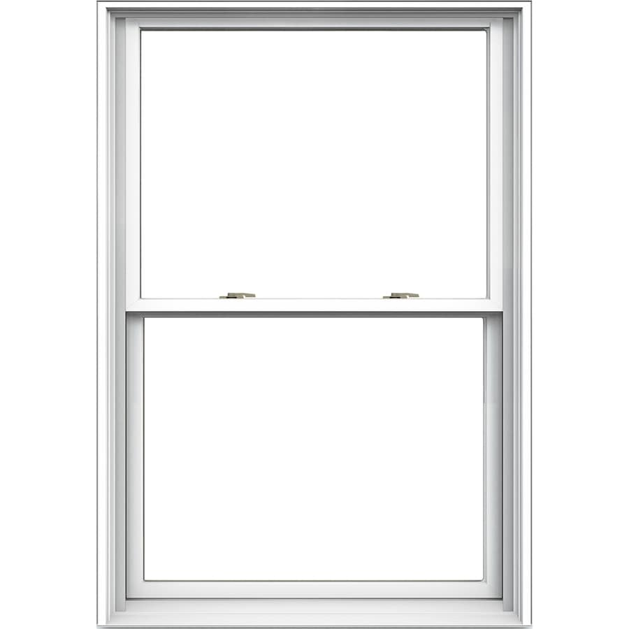 JELD-WEN Tradition Aluminum-Clad Double Pane Annealed Double Hung Window (Rough Opening: 34.125-in x 48.75-in; Actual: 33.375-in x 48-in)