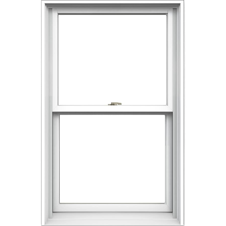 JELD-WEN Tradition Aluminum-clad Double Pane Annealed New Construction Double Hung Window (Rough Opening: 30.125-in x 48.75-in; Actual: 29.375-in x 48-in)