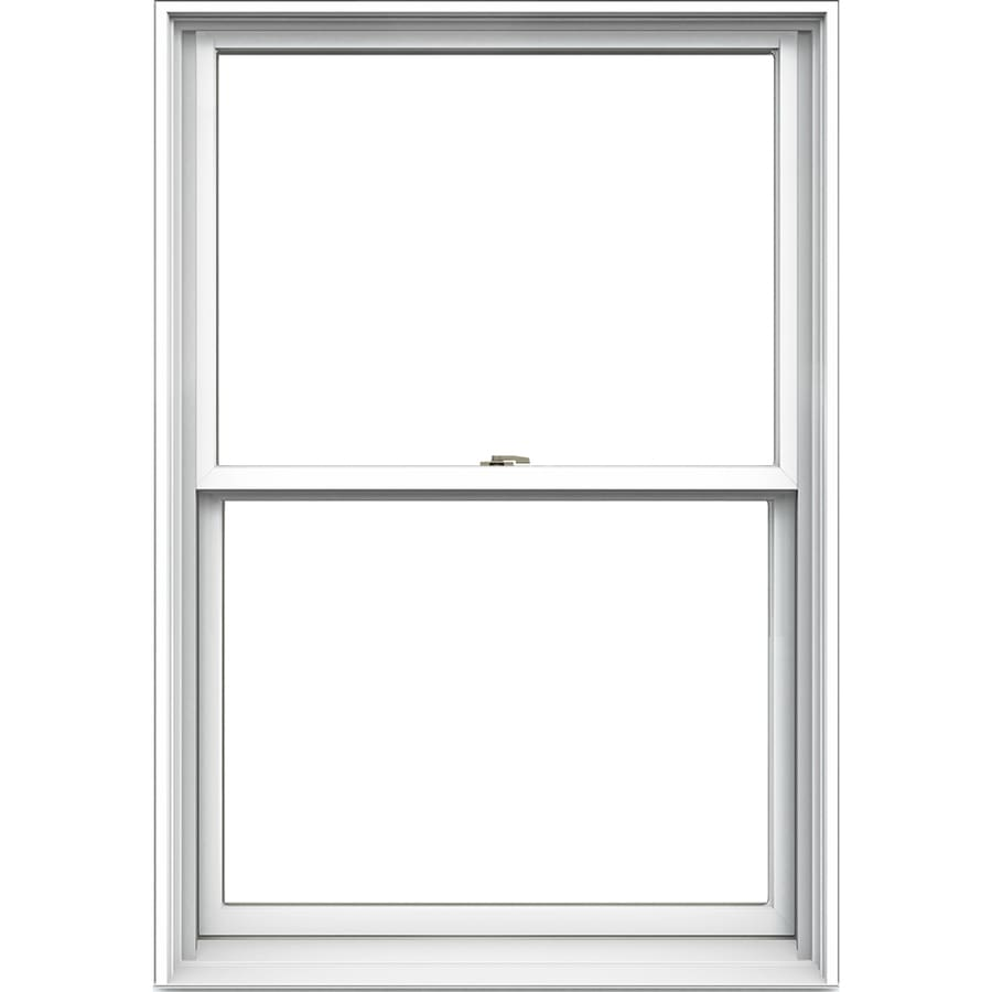JELD-WEN Tradition Aluminum-Clad Double Pane Annealed Double Hung Window (Rough Opening: 26.125-in x 36.75-in; Actual: 25.375-in x 36-in)