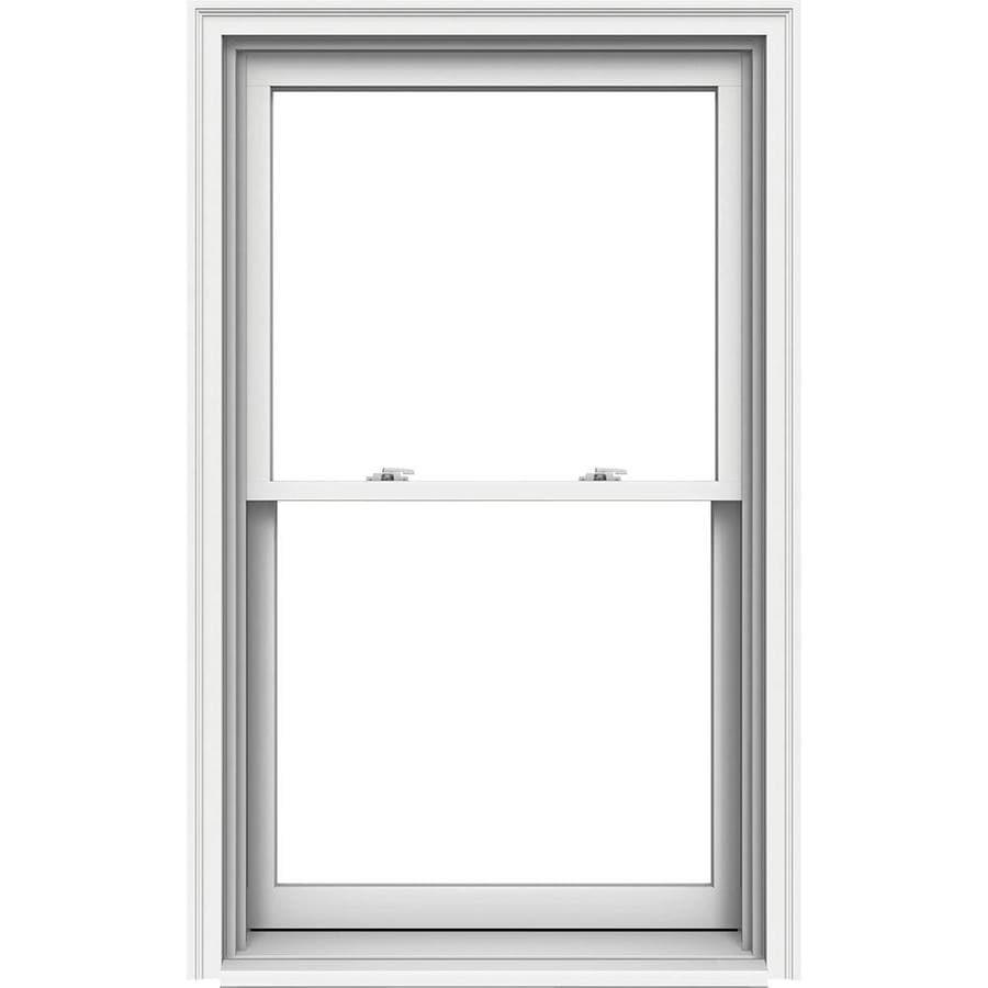 JELD-WEN Premium Wood Double Pane Annealed Double Hung Window (Rough Opening: 34.125-in x 57.25-in; Actual: 33.375-in x 56.5-in)