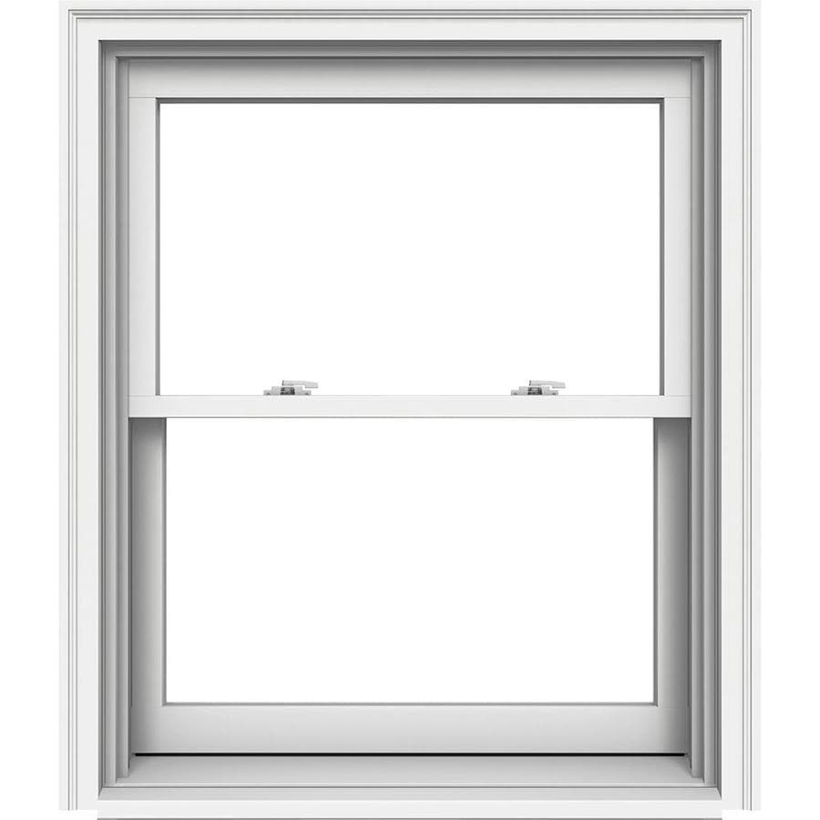 JELD-WEN Premium Wood Double Pane Annealed Double Hung Window (Rough Opening: 34.125-in x 41.25-in; Actual: 33.375-in x 40.5-in)