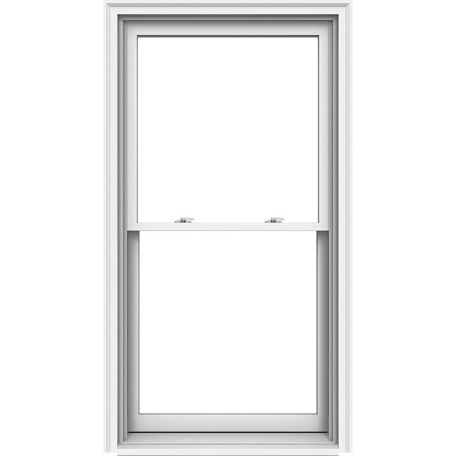 JELD-WEN Premium Wood Double Pane Annealed Egress Double Hung Window (Rough Opening: 34.125-in x 65.25-in; Actual: 33.375-in x 64.5-in)