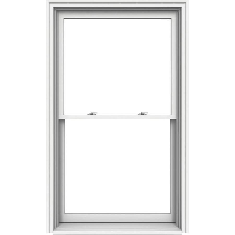 JELD-WEN Premium Wood Double Pane Annealed Egress Double Hung Window (Rough Opening: 38.125-in x 65.25-in; Actual: 37.375-in x 64.5-in)