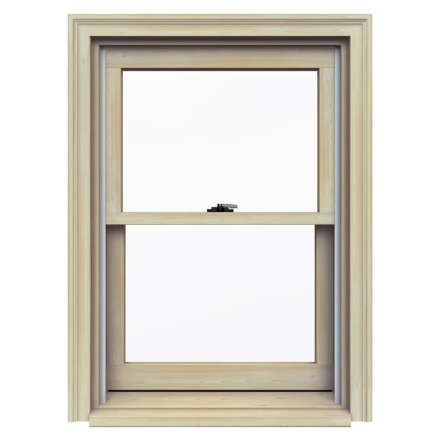 JELD-WEN Premium Wood Double Pane Annealed Double Hung Window (Rough Opening: 26.125-in x 37.25-in; Actual: 25.375-in x 36.5-in)