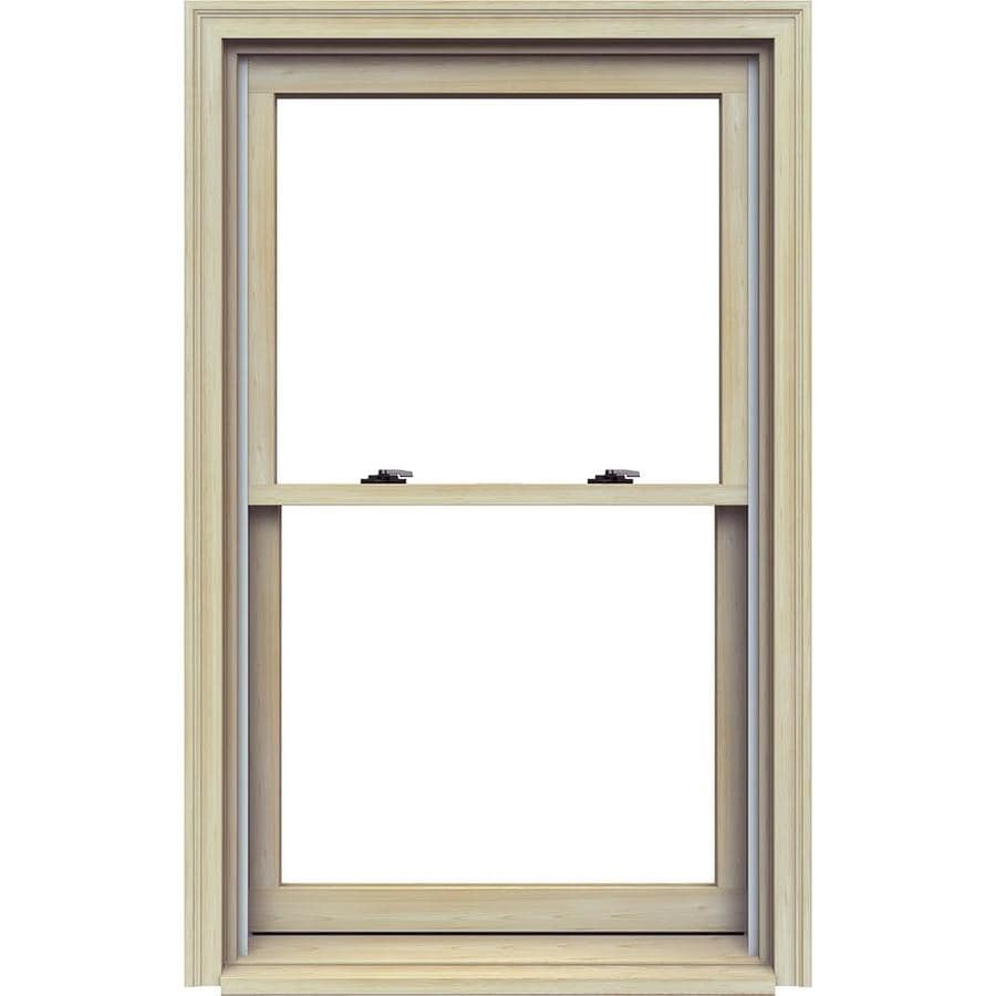 JELD-WEN Premium Wood Double Pane Annealed Double Hung Window (Rough Opening: 32.125-in x 53.25-in; Actual: 31.375-in x 52.5-in)