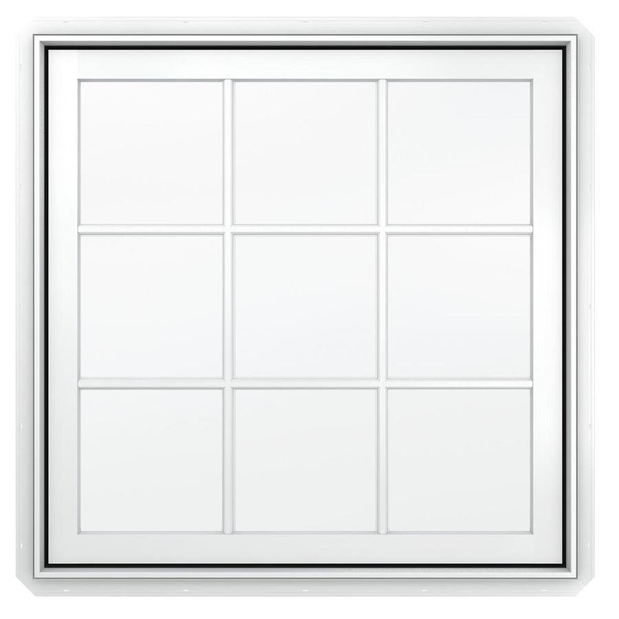JELD-WEN Premium 1-Lite Aluminum-Clad Double Pane Annealed New Construction Casement Window (Rough Opening: 30.75-in x 36.75-in Actual: 30-in x 36-in)