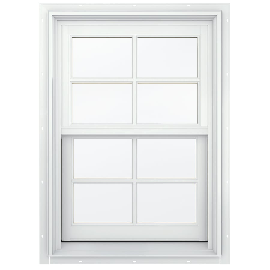 JELD-WEN Aluminum-clad Double Pane Annealed New Construction Double Hung Window (Rough Opening: 26.13-in x 40.75-in; Actual: 25.38-in x 40-in)