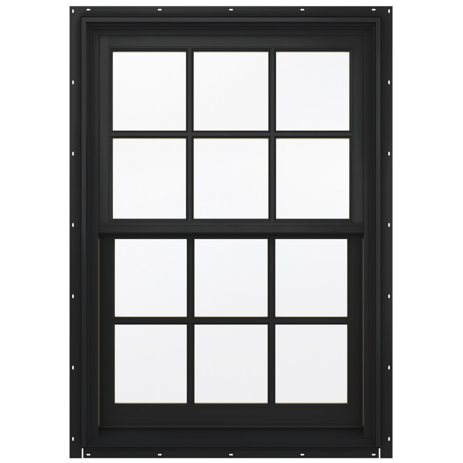 JELD-WEN Aluminum-Clad Double Pane Annealed Double Hung Window (Rough Opening: 30.13-in x 48.75-in; Actual: 29.38-in x 48-in)